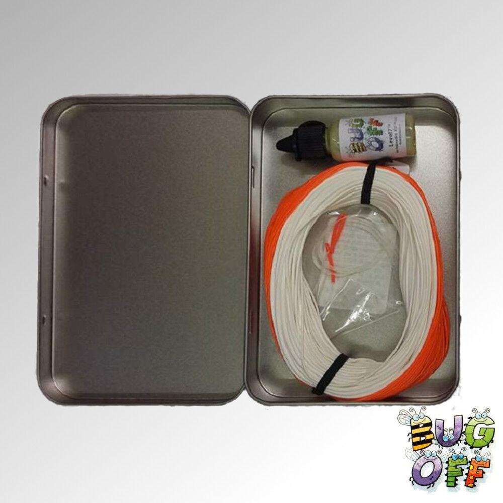 Bug Off XT-ReamAero Salmon Spey Fly Line 40yds Available in 3 sizes White orange