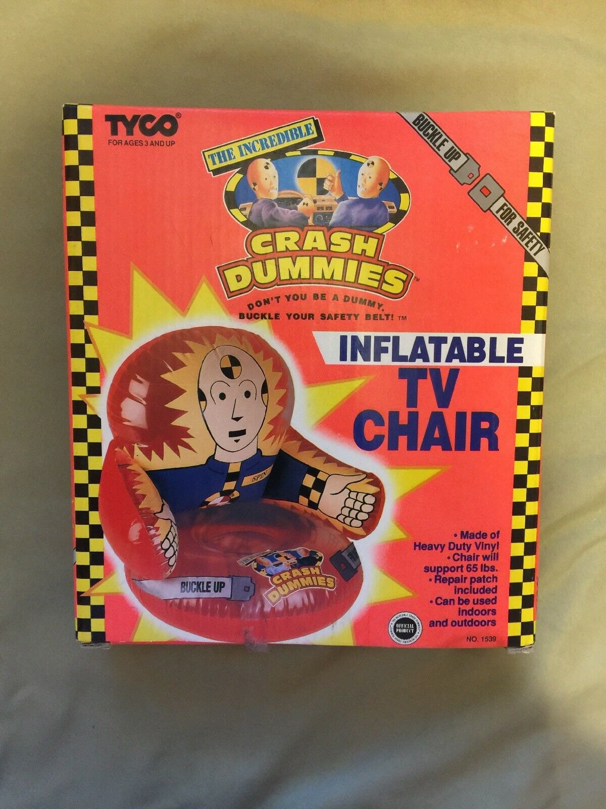 The IncROTible Crash Dummies Inflatable TV Chair