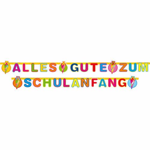 Girlande Alles Gute zum Schulanfang 3 m lang Einschulung Dekoration Wimpelkette