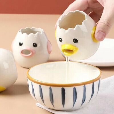 Cartoon Chicken Ceramic Egg White Separator Yolk Dividers Kitchen Tool Useful