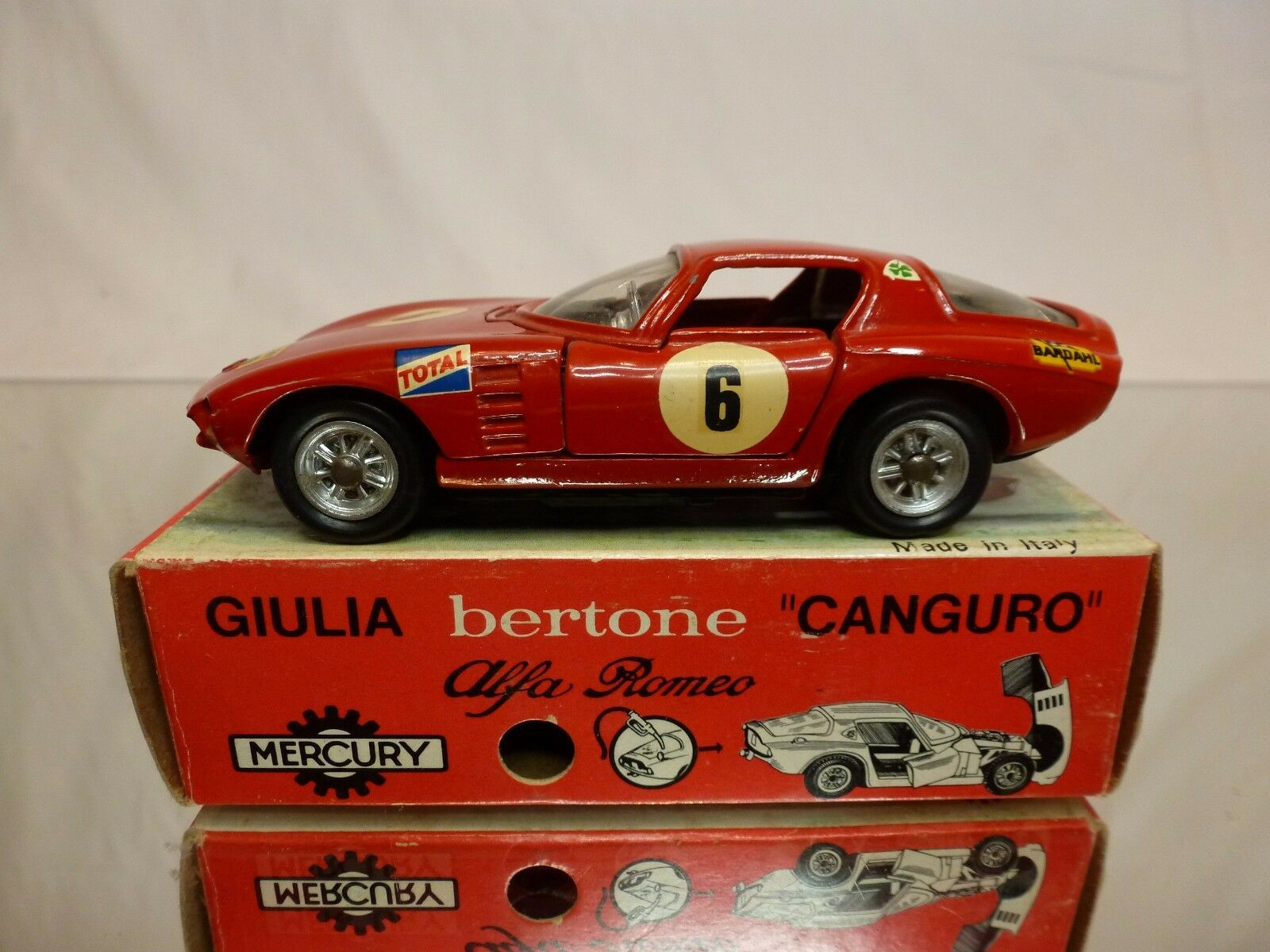 MERCURY 29 ALFA ROMEO GIULIA BERTONE CANGURO - rosso 1:43 1:43 1:43 - GOOD CONDITION IN BOX 02bdde