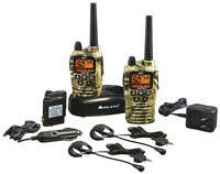 Talkie Walkies 56km Midland Gxt2050 + Chargeur +lithium Batterie Camouflage