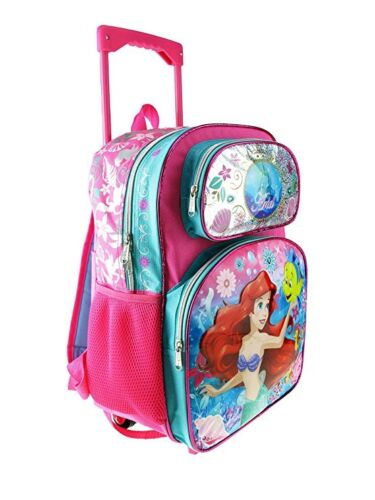 "2018 Disney The Little Mermaid Ariel 16/"" Roller Pink Large School Backpack"