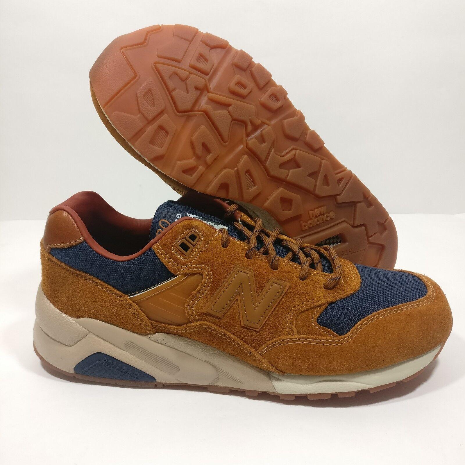 Mens New Balance 580 Cordura Brown Blue Running MT580SB Winter Shoe Size 9.5