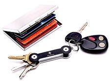 Metal RFID Blocking Wallet Compact Pocket Key Organizer Credit Card Protection