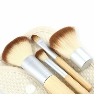 4-Pcs-Women-Pro-BAMBOO-Makeup-Brush-Set-w-Cosmetic-Bag-5pcs-Make-Up-Brushes