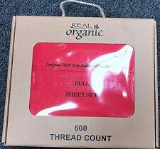 4 piece bed sheet set 100 organic cotton 600 thread deep pocket