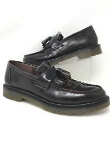 Dr-Martens-Men-039-s-Adrian-Slip-On-Loafers-Leather-Dark-Burgundy-Tassel-Sz-Us-13M