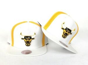 265a1b6f93bcad Mitchell & Ness Zipper Metal Badge Chicago Bulls Snapback Hat White ...
