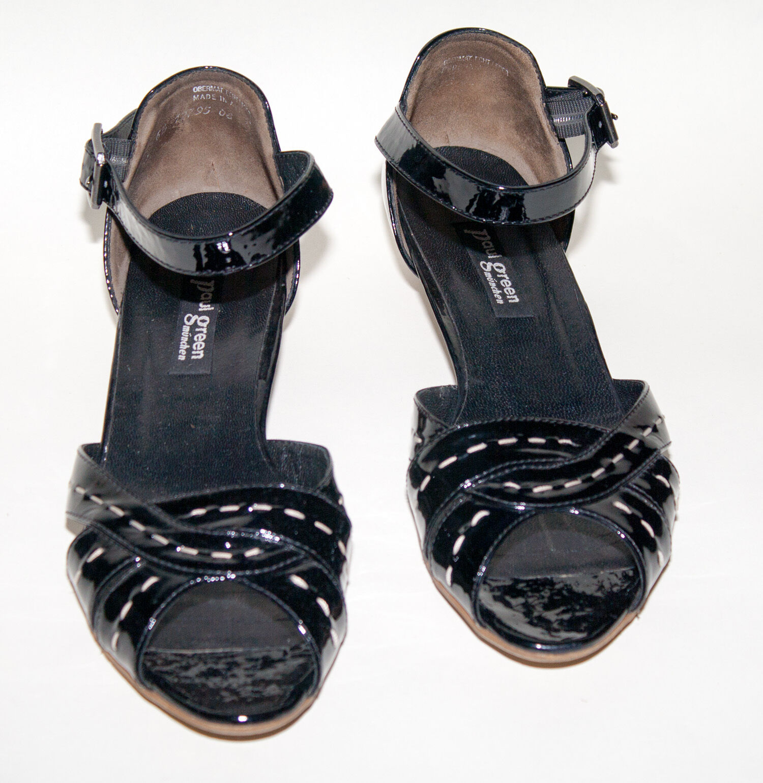 Paul verde munich munich munich zapatos ☺ ☺ de salón talla 5,5  top  Handmade charol + cuero negro  marca famosa