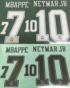 a554607711f 2018-19 PSG Paris NEYMAR JR 10 MBAPPE 7 Third UCL Shirt Printing ...