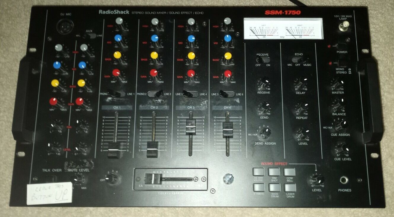Optimus RadioShack SSM-1750 4-Channel Stereo Sound Effects Mixer . Buy it now for 75.00