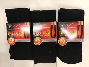 7 formaat sokken elke Lot thermische Black dag L groot 4 kniehoge 10781 Dames 8gYwfqn