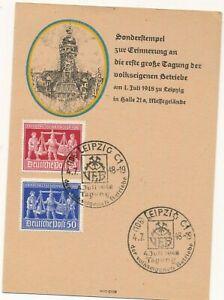 Diplomatique 969/70 - Veb 4. Juillet 1948 Esession De La Populaire Propres Exploitations-spécial Carte Avec Sst-afficher Le Titre D'origine