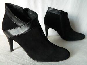 70a585ccee877 Détails sur MINELLI low boots talons bottes bottines CUIR velours & CUIR 40  TTBE val 139 eur