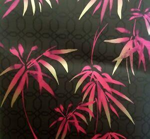 Image Is Loading Waikiki Pink Amp Yellow Exotic Palm Leaf Wallpaper