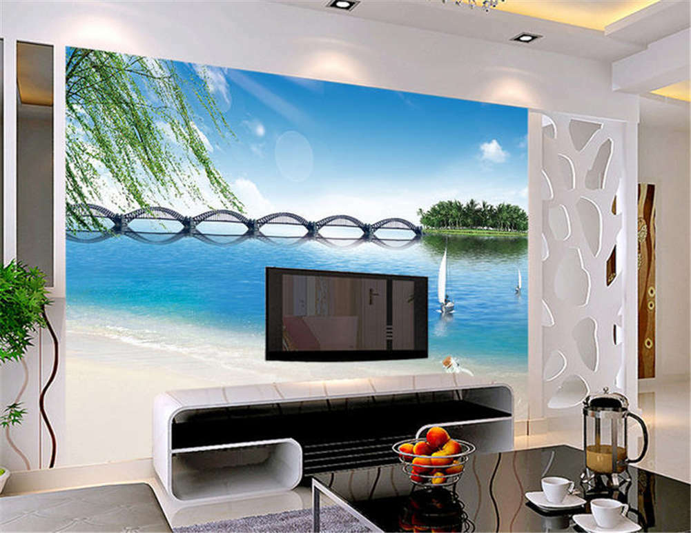 Stiff Liberal Bridge 3D Full Wall Mural Photo Wallpaper Printing Home Kids Decor