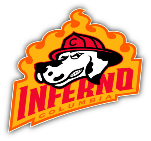 5/'/' or 6/'/' 3/'/' Columbia Inferno Hockey Logo Car Bumper Sticker Decal