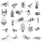 3D Metal Model Puzzle Nano Metallic Laser Cut Steel Jigsaw Kid Toys Gift DIY