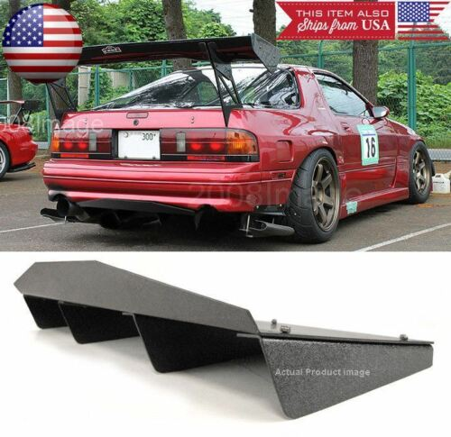 "30/"" x 12.5/"" ABS Textured Rear Bumper Center Diffuser Fin Black For Subaru Mazda"