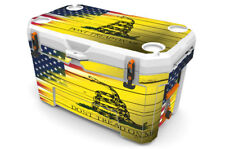 USATuff Custom Cooler Wrap fits Ozark Trail 52qt FULL USA Red Line Flag