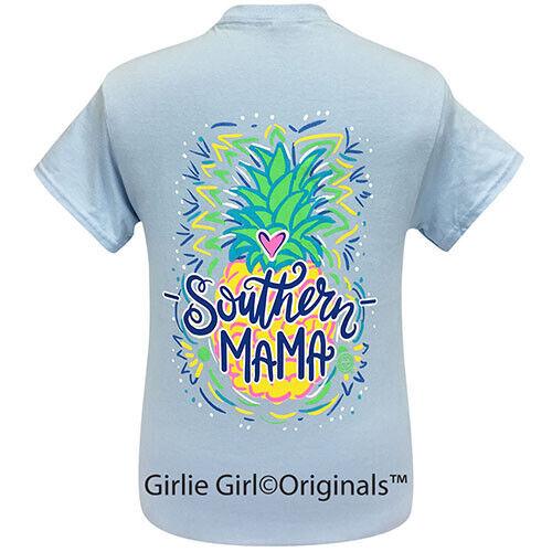 Girlie Girl Originals Tees Southern Mama Light Blue Short Sleeve T-Shirt - 2211