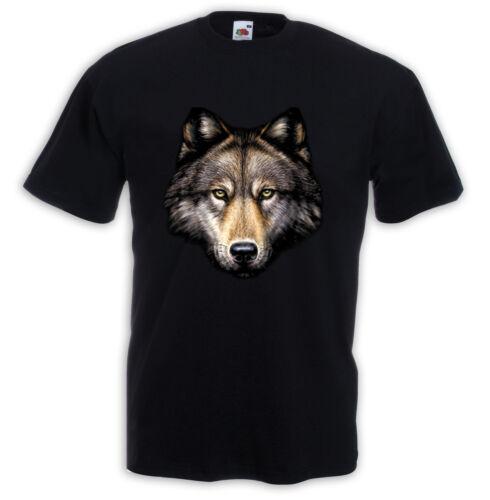 Animal T-Shirt Loup Tête nature indien Biker Western TRUCKER USA