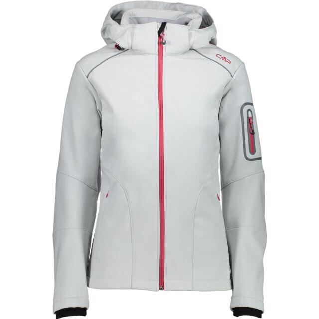 Campagnolo Ladies Hiking Leisure Softshell Jacket Detachable Hood Light Grey