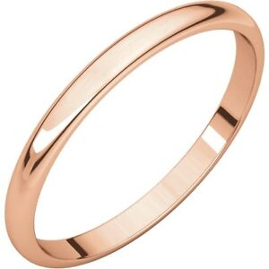 SOLID-10K-ROSE-GOLD-2MM-PLAIN-WEDDING-BAND-RING-SIZE-3-15