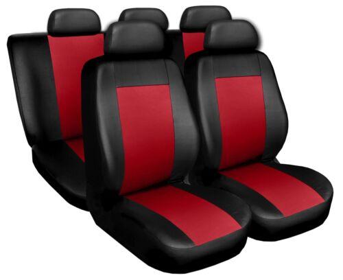 Coprisedili Copri Sedili Salva Sedili adatto per Honda Civic nero-rosso