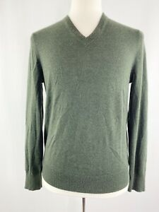 Details about Banana Republic Men's M Dark Green Extra Fine Merino Wool Sweater V Neck