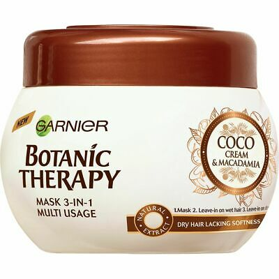 Garnier Botanic Therapy Hair Mask 3 In 1 Coco Cream Macadamia 300ml Dry Hair 3600542194082 Ebay