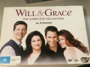 WILL-amp-GRACE-THE-COMPLETE-COLLECTION-ALL-8-SEASONS-DVD-32-DISCS-R4-VGC