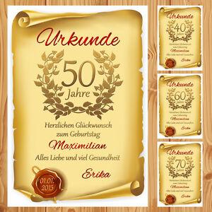 Geburtstagsurkunde-30-40-50-60-70-80-Bild-Geschenk-Deko-NEU-individuell