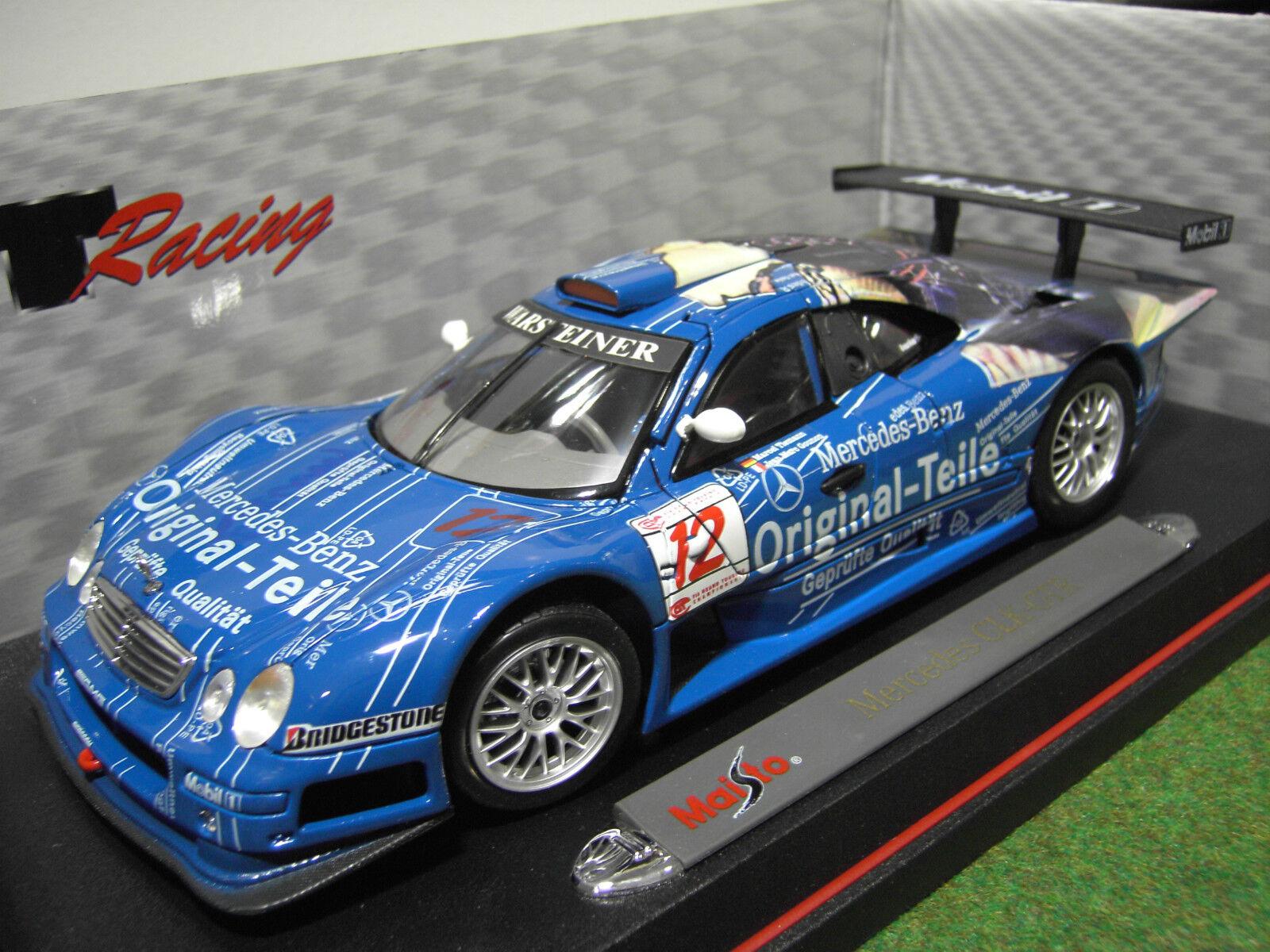 MERCEDES  CLK  GTR   12 ORIGINAL TEILE bleu o 1 18 MAISTO 38848 voiture miniature  gros pas cher