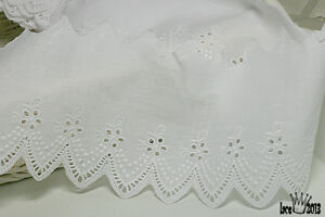 5Yds-Broderie-Anglaise-cotton-eyelet-lace-trim-3-5-034-9cm-white-YH440-laceking