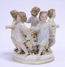 Porzellanfigur Kinder-Figurengruppe Porzellan Mädchen Dose Schale