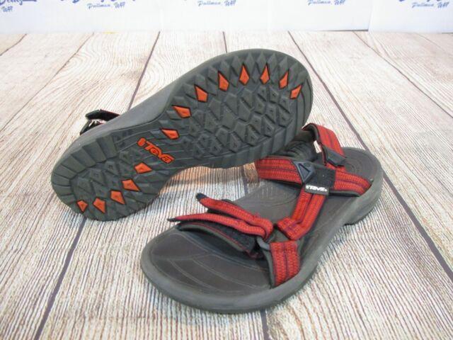 NICE Teva Original Universal Red Black Strap Sport Sandals Shoes Women's size 8