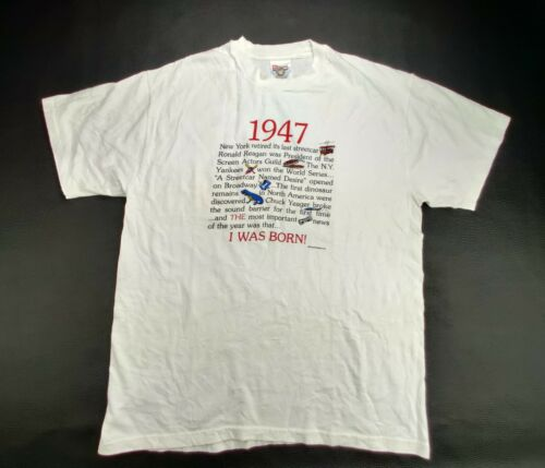 """Hanes Heavy Weight """"Vtg"""" Men's Large """"I Was Born … - image 1"""