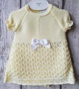 38eaeff73 Spanish Style Baby Girl Lemon Short Sleeved Knitted Dress and Jam ...
