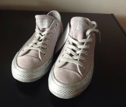 Star Grigio Ash pelle scarpe scamosciata All Converse Uk4 scamosciata glitter 5 in ginnastica Bnib argento da 0x5fn5AHRw