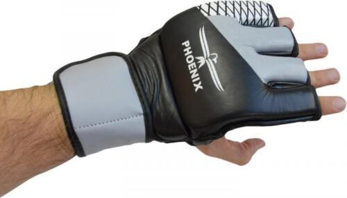 MMA Boxhandschuhe Boxsack Sandsack Handschuhe Free Fight Muay Thai// Advance grau