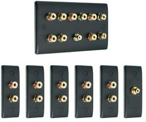 Complet-5-1-audio-surround-Slimline-haut-parleur-AV-mur-face-Kit-Non-soudure