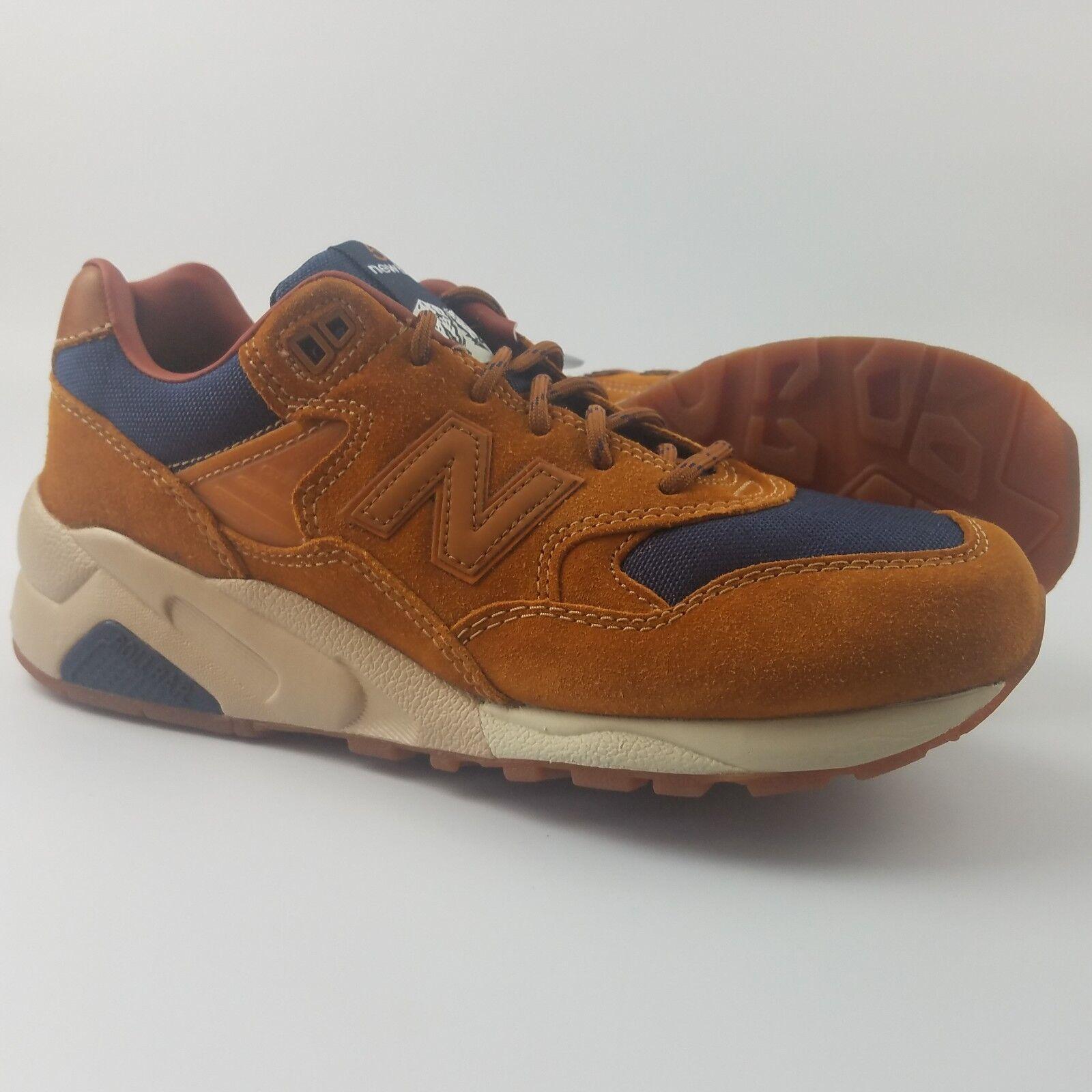 New Balance 580 Mens Size 7.5  Running shoes Cordura Brown Navy blueee MT580SB