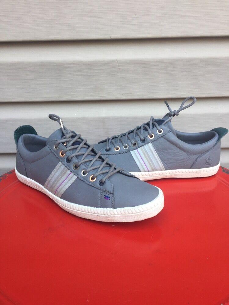 Paul Smith Cuero Zapatillas De Cuero Smith Para Mujer Calzado Casual de Encaje Osmo Gris  nuevo c33c6e