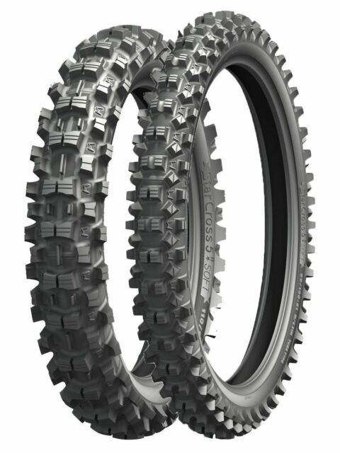 Pair Michelin Starcross 5 Soft Front 80/100-21 & Rear 100/90-19 MX/XC Tyres