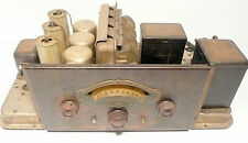 vintage * ATWATER KENT TYPE L CHASSIS RADIO - 4 TUBES, NICE KNOBS, GOOD PARTS