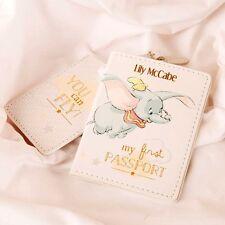 Personalizzata Disney Baby DUMBO IL MIO PRIMO Custodia per passaporto e bagagli Tag Set Regalo