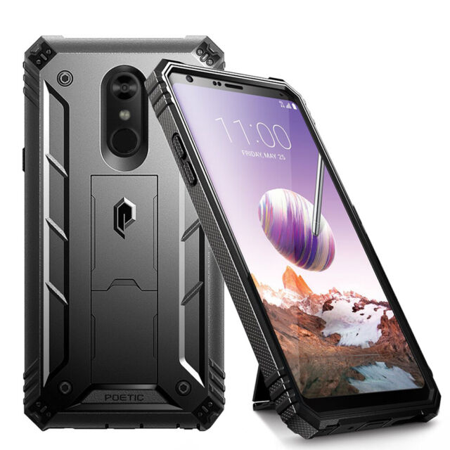 Poetic LG Stylo 4 Rugged Case Revolution 360 Degree Protection Cover Black