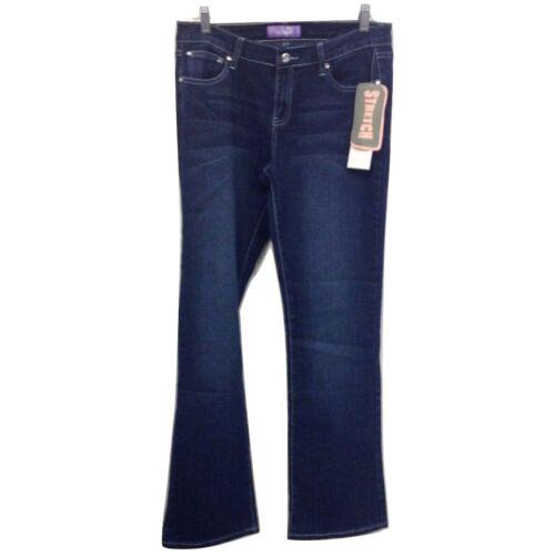 NEW NWT Miss Jeaniest Blue Stretch Denim Rhinestone Metal Stud Jeans $68 retail